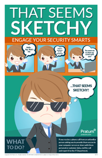That Seems Sketchy - Cybersecurity Awareness Posters - Pretexting Phone Calls