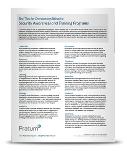 Top Tips for Developing Effective Security Awareness and Training Programs